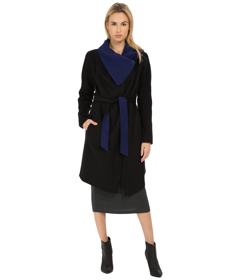 Diane von Furstenberg - Marilyn (Black/Lapis) Women's Coat