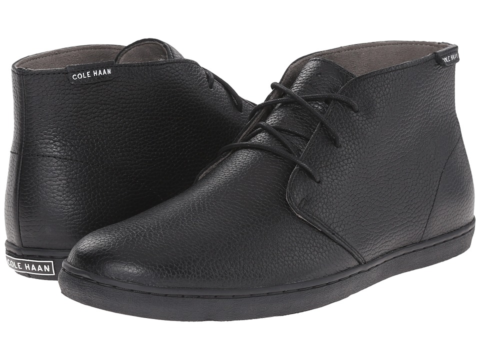Cole Haan Pinch Weekender Chukka (Black Waterproof Leather) Men
