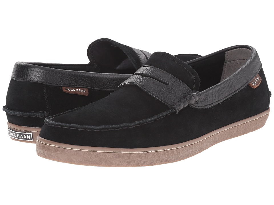 Cole Haan - Pinch Weekender (Black Waterproof Suede) Men's Slip on Shoes