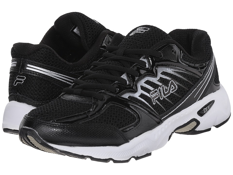 Fila - Tempo (Black/White/Metallic Silver) Men's Shoes