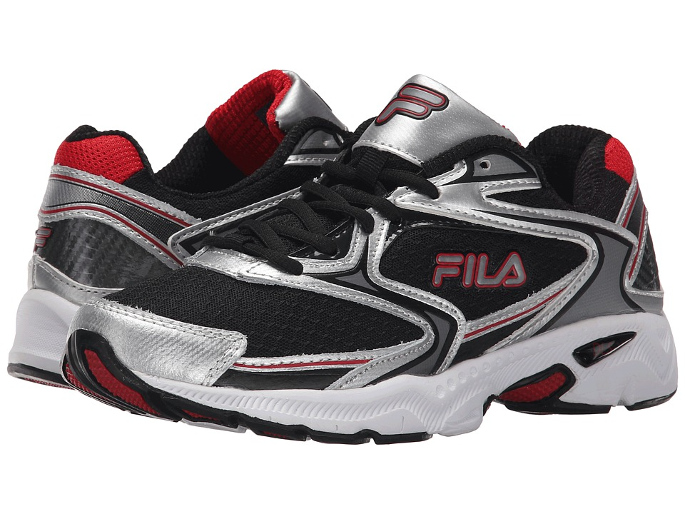 Fila - Xtent (Black/Metallic Silver/Fila Red) Men