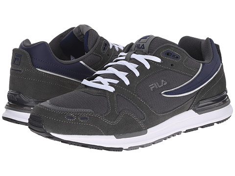 Fila - Retro Jogger (Pewter/Fila Navy/White) Men