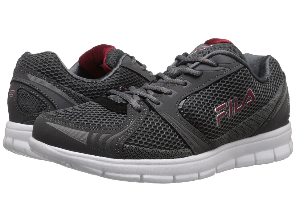 Fila - Luxey (Castlerock/Black/Red/Metallic Silver) Men's Shoes