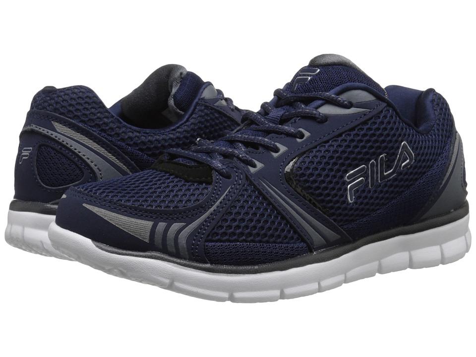 Fila - Luxey (Fila Navy/Castlerock/Metallic Silver) Men's Shoes