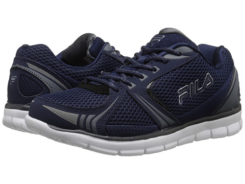 Fila - Luxey (Fila Navy/Castlerock/Metallic Silver) Men's Shoes