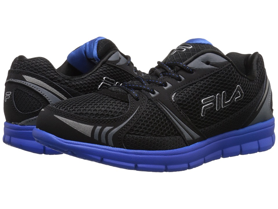 Fila - Luxey (Black/Black/Prince Blue) Men