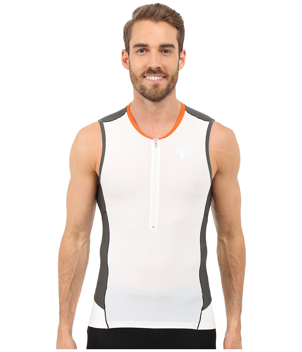Pearl Izumi - Elite Pursuit Tri SL Jersey (White/Shadow Grey) Men's Workout