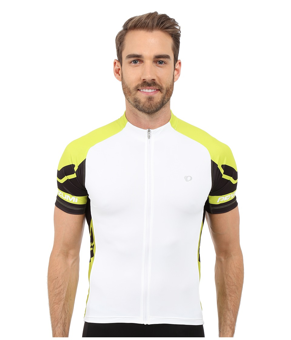Pearl Izumi - ELITE Jersey (White/Lime Punch) Men's Workout