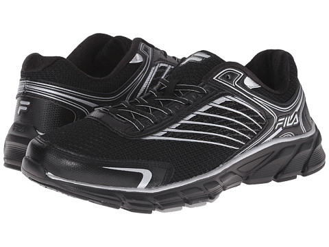 Fila - Memory Maranello 2 (Black/Black/Metallic Silver) Men's Shoes