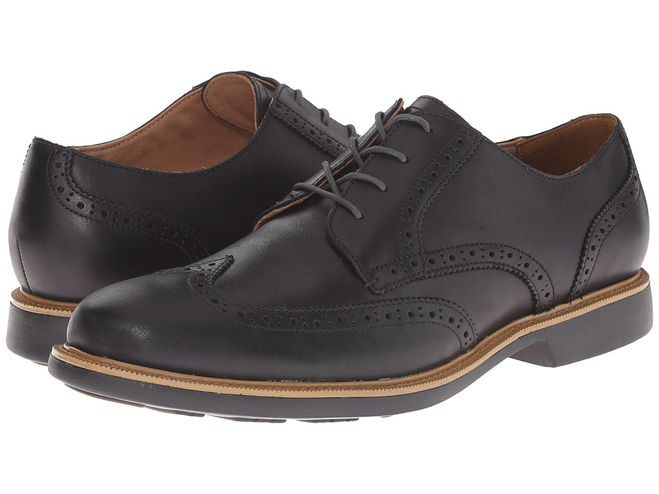 Cole Haan - Great Jones Wing Oxford (Black Waterproof) Men's Lace Up Wing Tip Shoes