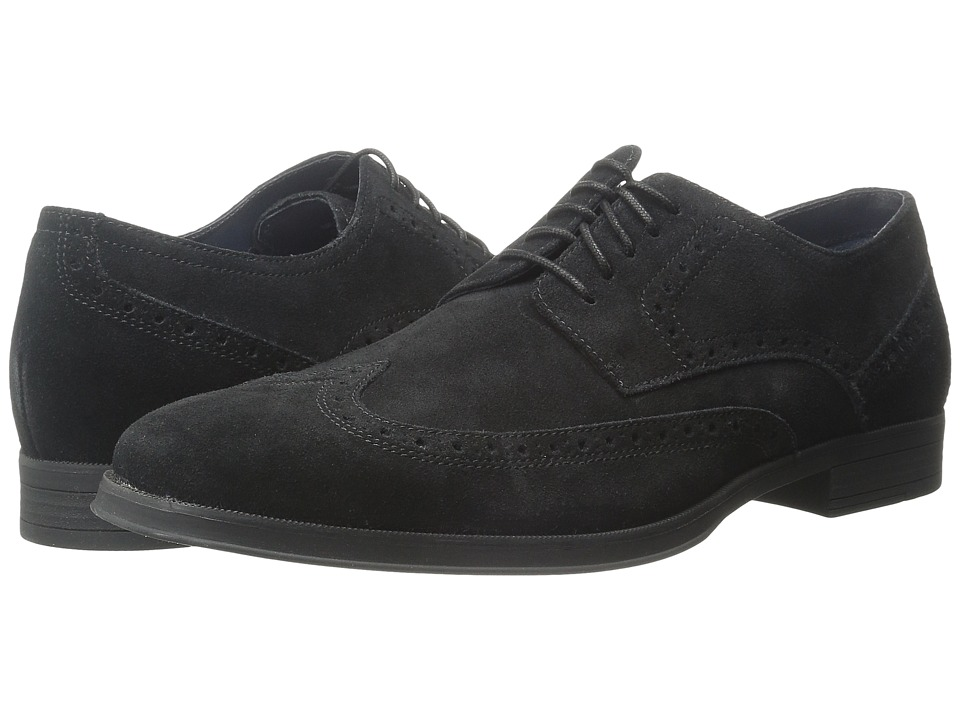 Cole Haan - Montgomery Wing Oxford (Black Suede Waterproof) Men's Lace Up Wing Tip Shoes