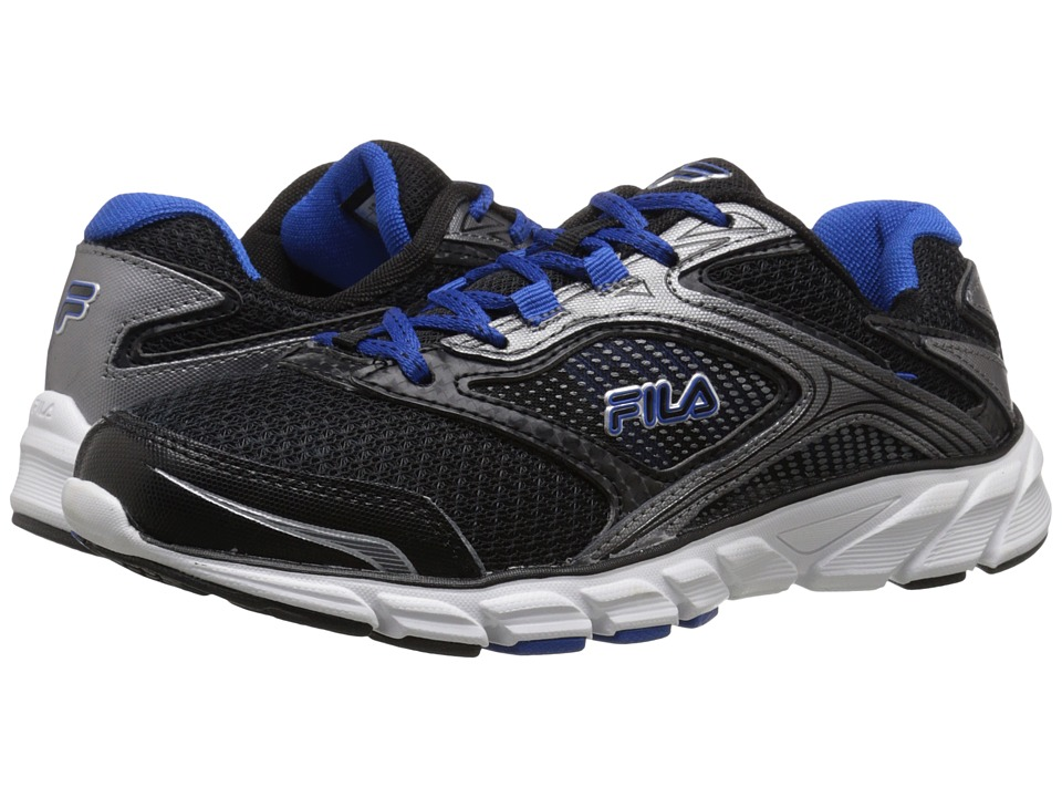 Fila - Stir Up (Black/Dark Silver/Prince Blue) Men's Shoes