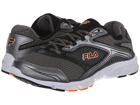 Fila - Stir Up (Dark Silver/Black/Vibrant Orange) Men's Shoes