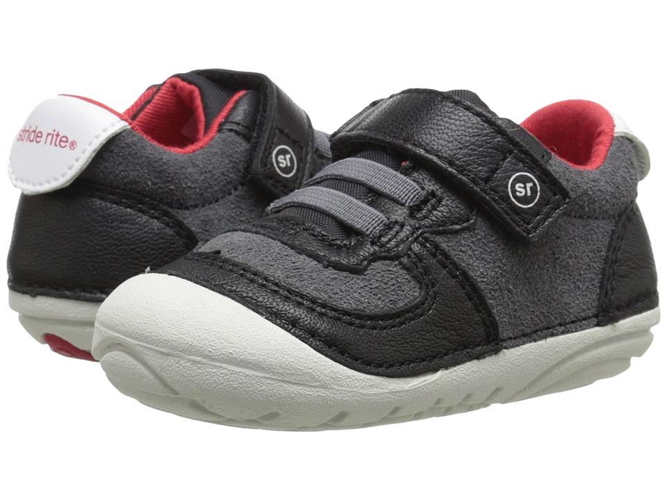 Stride Rite - SM Barnes (Infant/Toddler) (Black) Boy's Shoes