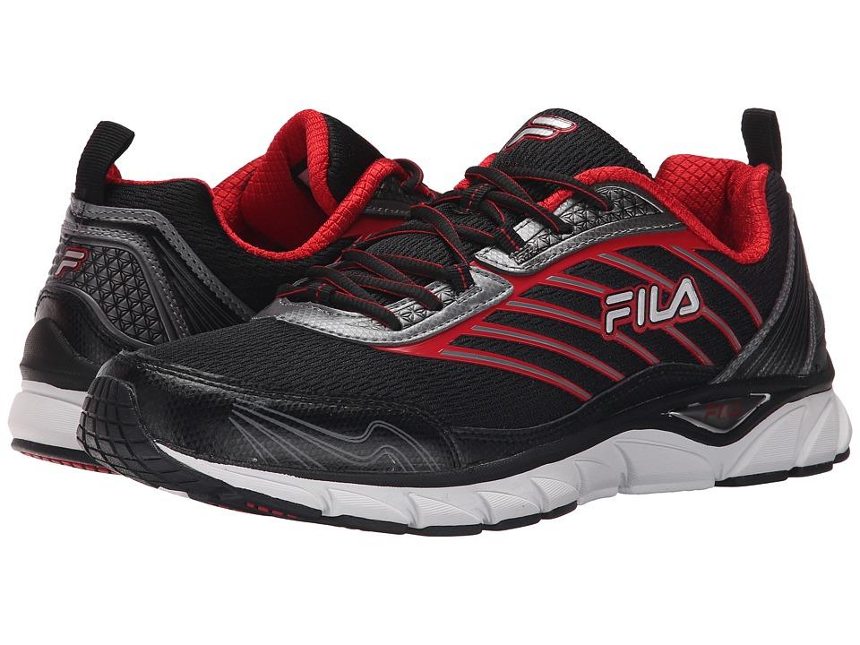 Fila - Forward (Black/Dark Silver/Fila Red) Men's Shoes