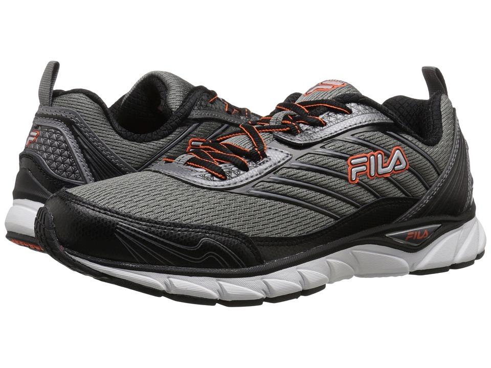 Fila - Forward (Dark Silver/Black/Red Orange) Men's Shoes