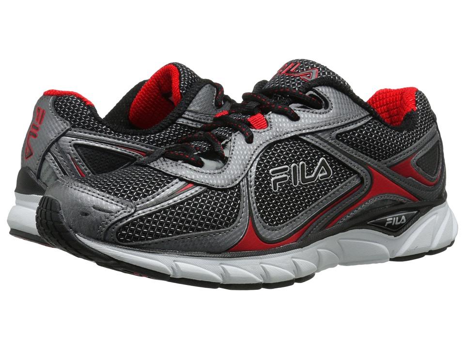Fila - Quadrix (Black/Dark Silver/Fila Red) Men's Shoes