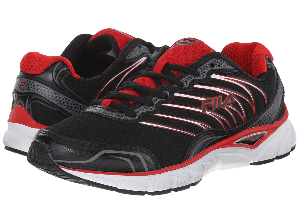 Fila - Countdown (Black/Fila Red/Dark Silver) Men's Shoes