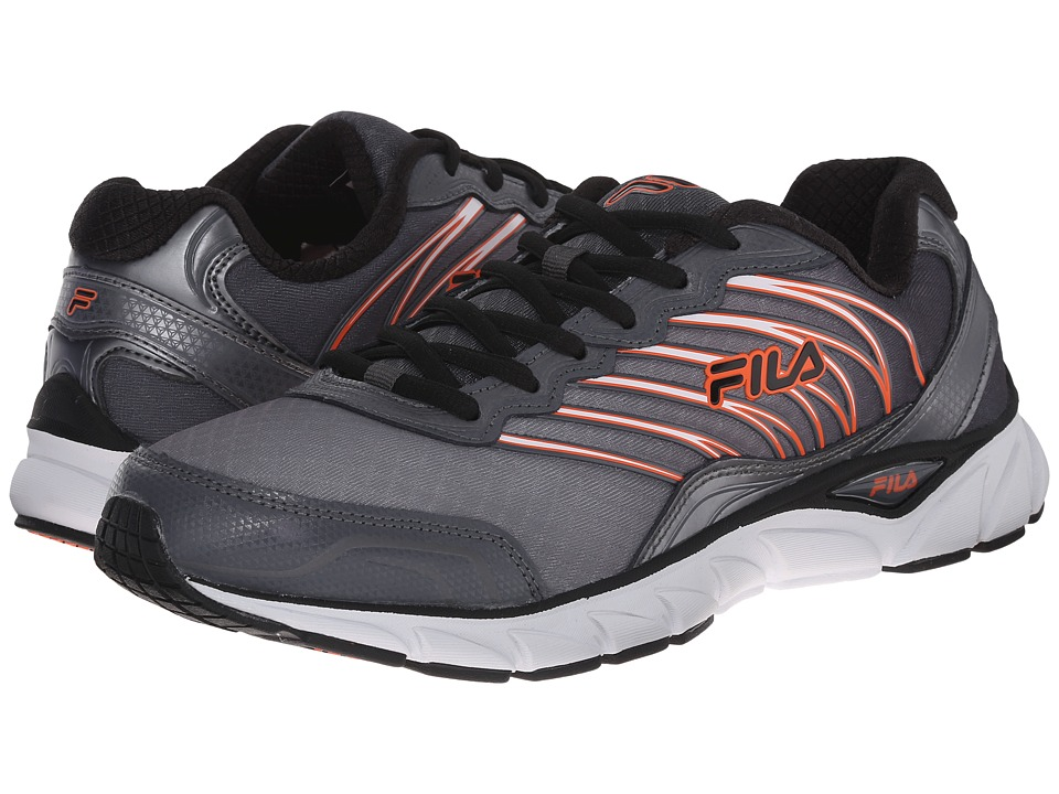 Fila - Countdown (Dark Silver/Black/Red Orange) Men's Shoes
