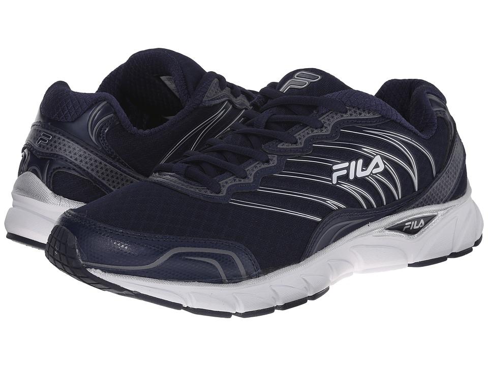 Fila - Countdown (Fila Navy/White/Metallic Silver) Men's Shoes