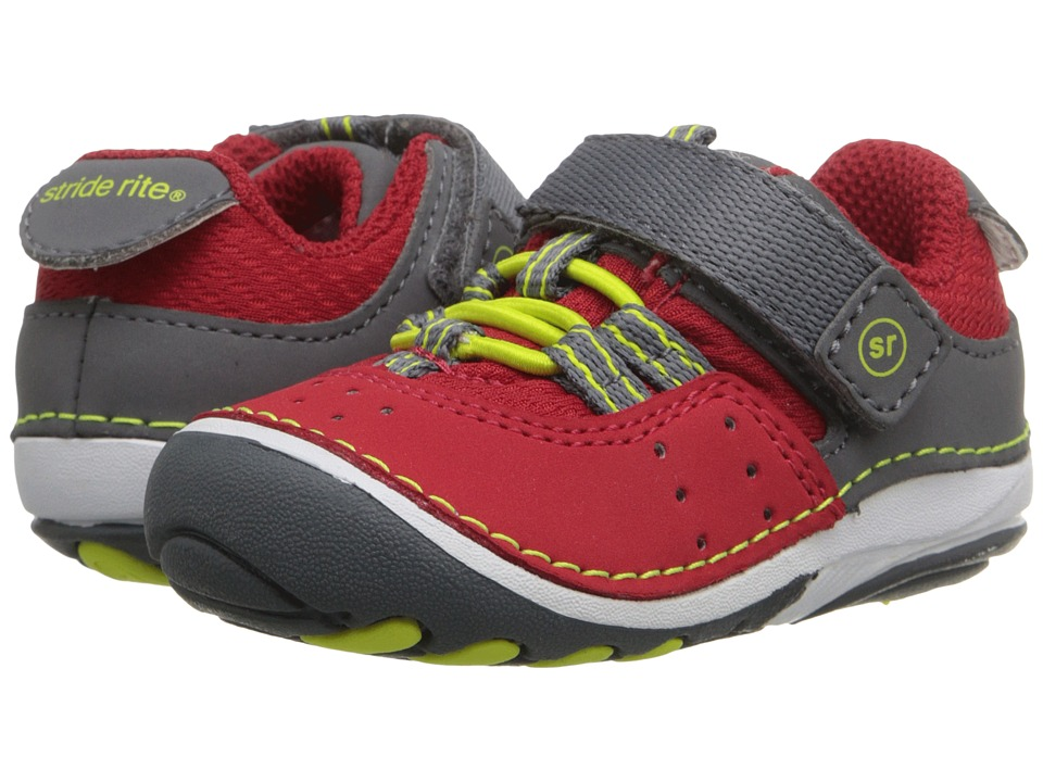Stride Rite - SM Amos (Infant/Toddler) (Red) Boy's Shoes