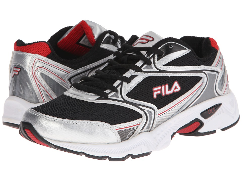 Fila - Xtent 2 (Black/Metallic Silver/Fila Red) Men's Running Shoes