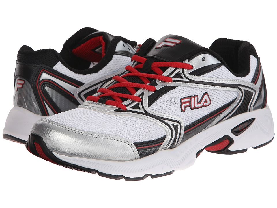 Fila - Xtent 2 (White/Black/Fila Red) Men's Running Shoes
