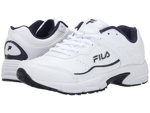 Fila - Memory Sportland (White/Fila Navy/Metallic Silver) Men's Shoes