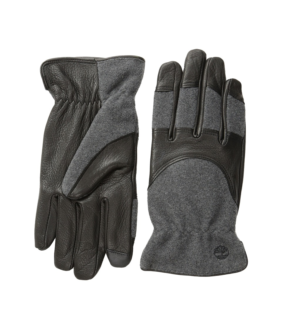 Timberland - GL360034 Melton Wool Deerskin Glove (Black) Extreme Cold Weather Gloves
