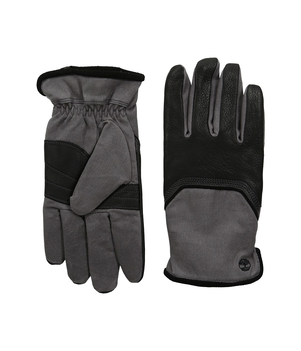 Timberland - GL360033 Waxed Canvas Deerskin (Black) Extreme Cold Weather Gloves