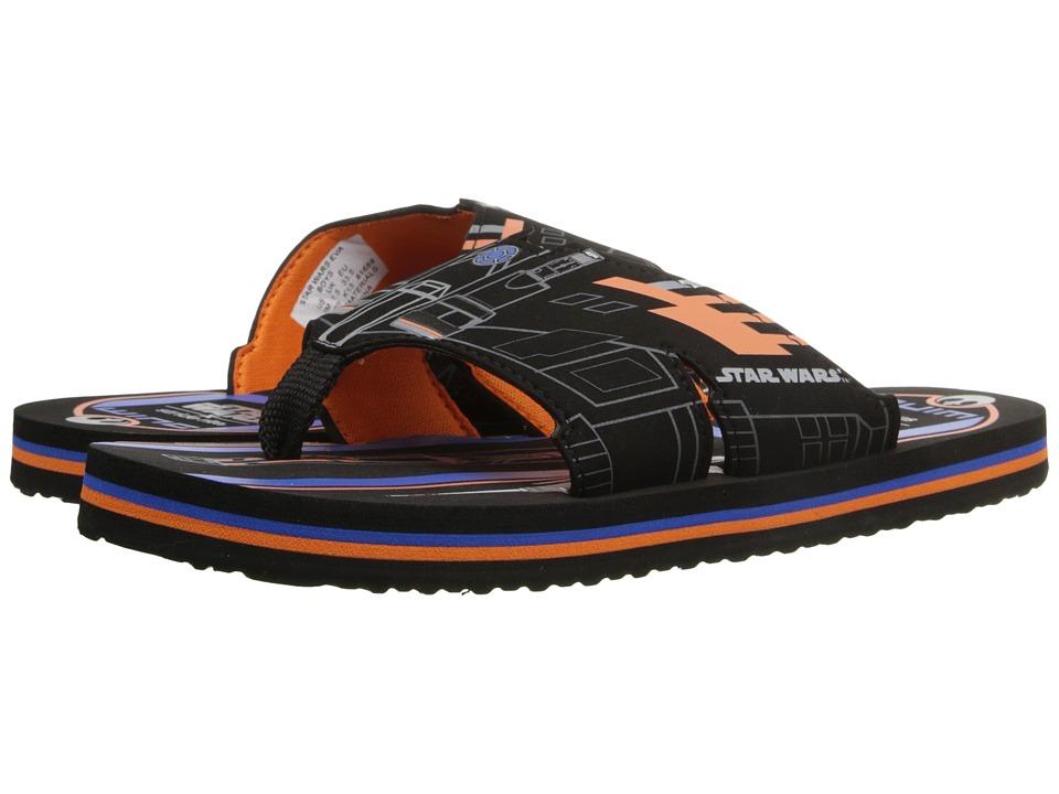 Stride Rite Star Wars Eva (Little Kid) (Black/Orange) Boys Shoes
