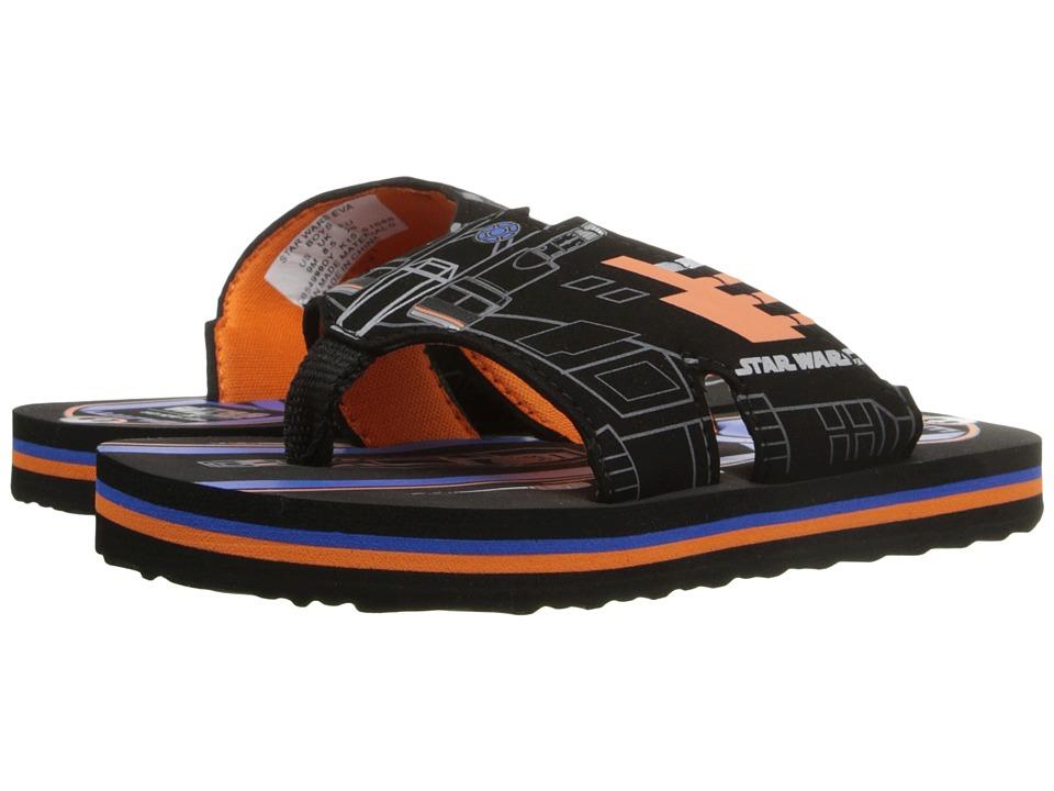 Stride Rite Star Wars Eva (Toddler/Little Kid) (Black/Orange) Boys Shoes