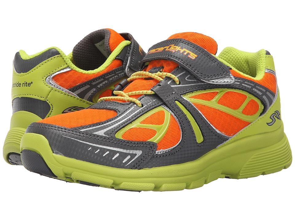 Stride Rite - Racer Lights Bolt (Little Kid) (Grey/Lime/Orange) Boys Shoes