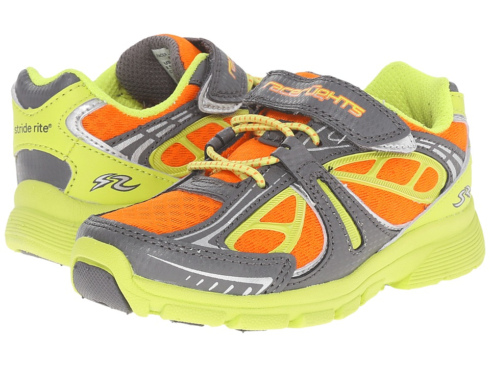 Stride Rite - Racer Lights Bolt (Toddler/Little Kid) (Grey/Lime/Orange) Boys Shoes