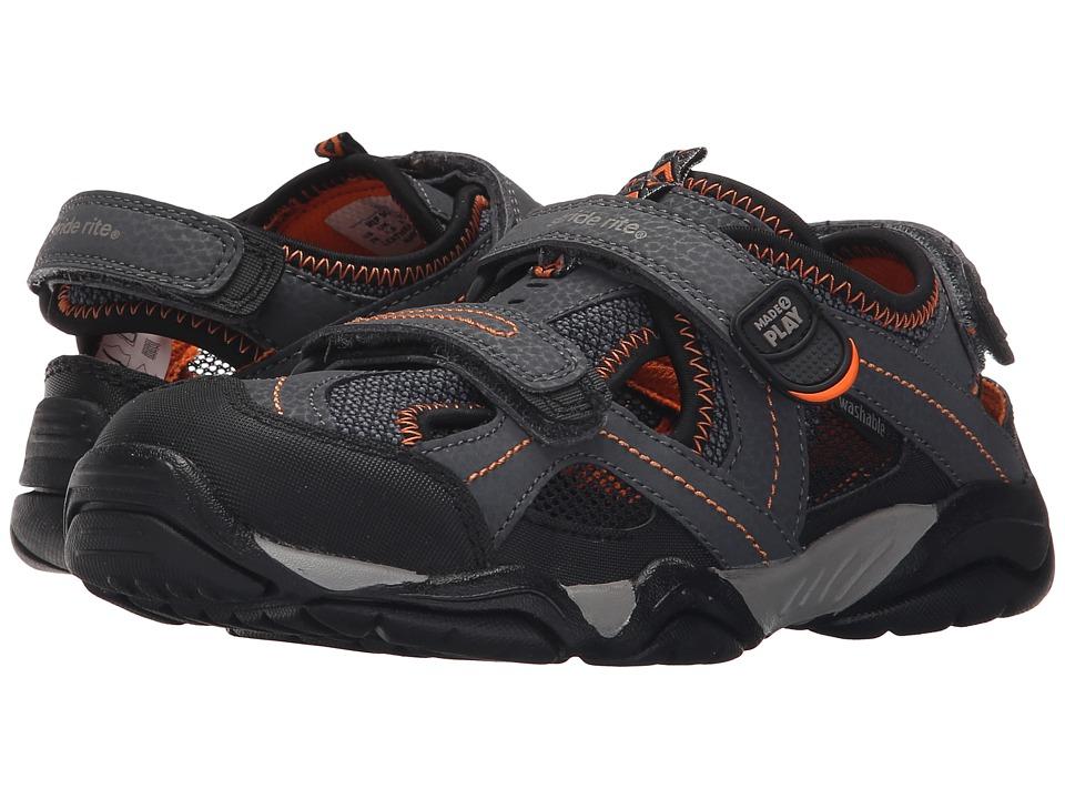 Stride Rite - M2P Soni (Little Kid) (Grey/Black) Boys Shoes