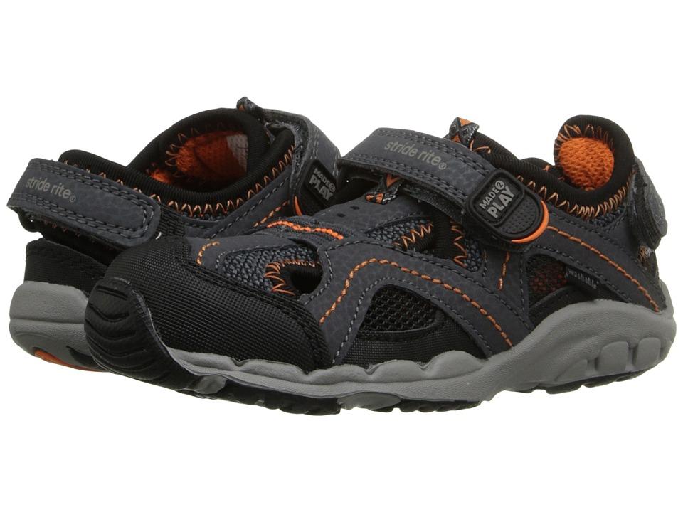 Stride Rite - M2P Baby Soni (Toddler) (Grey/Black) Boys Shoes