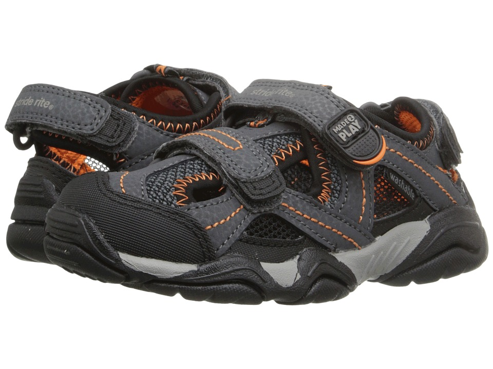 Stride Rite - M2P Soni (Toddler/Little Kid) (Grey/Black) Boys Shoes