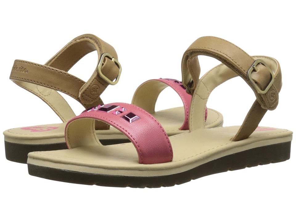 Stride Rite - Linnea (Little Kid/Big Kid) (Tan/Pink) Girls Shoes