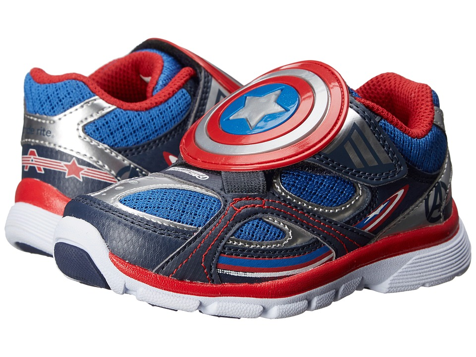 Stride Rite - Captain America Lighted Athletic (Toddler/Little Kid) (Blue) Boy's Shoes