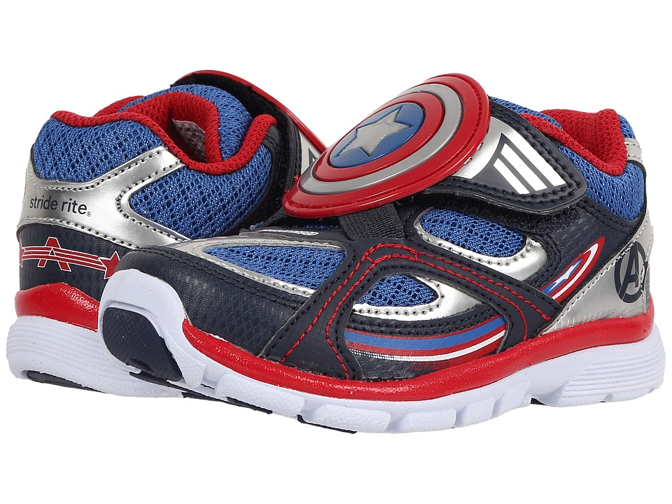 Stride Rite - Captain America Lighted Athletic (Toddler) (Blue) Boy's Shoes