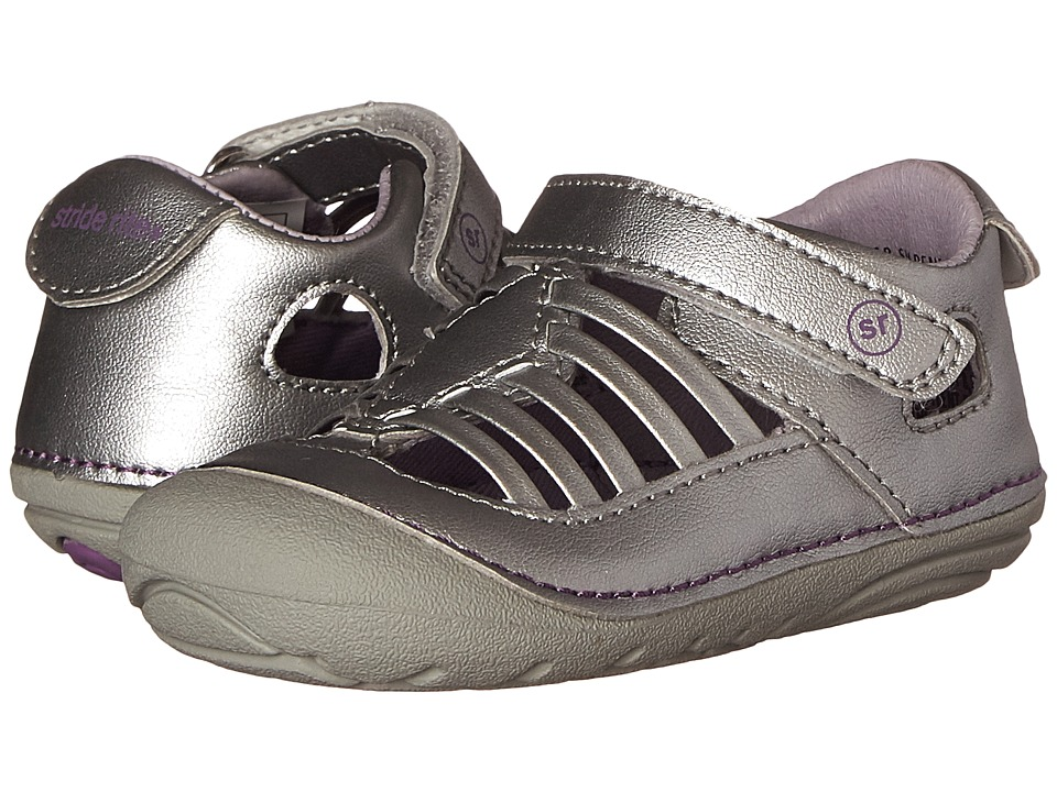 Stride Rite - SM Penelope (Infant/Toddler) (Silver) Girls Shoes