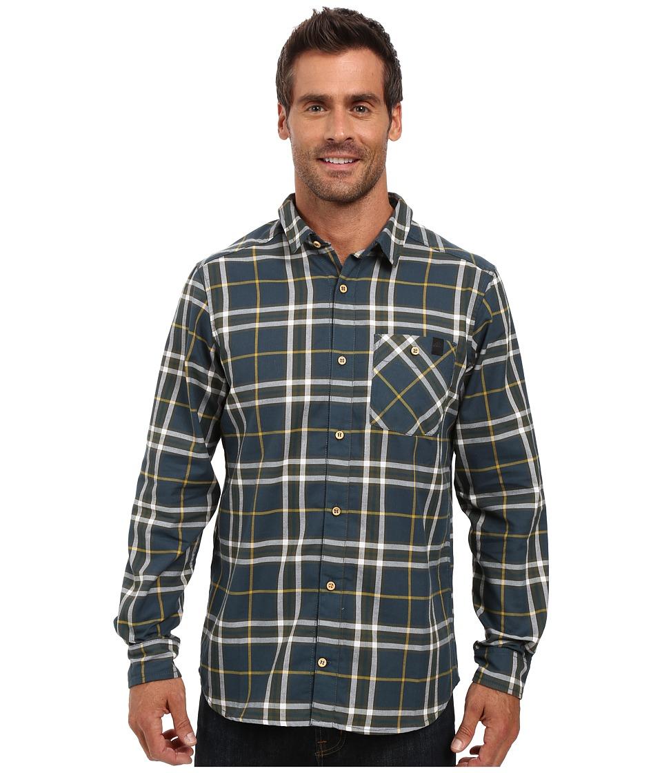 adidas Outdoor - All Outdoor Checker Moss Long Sleeve Shirt (Midnight) Men's Long Sleeve Button Up