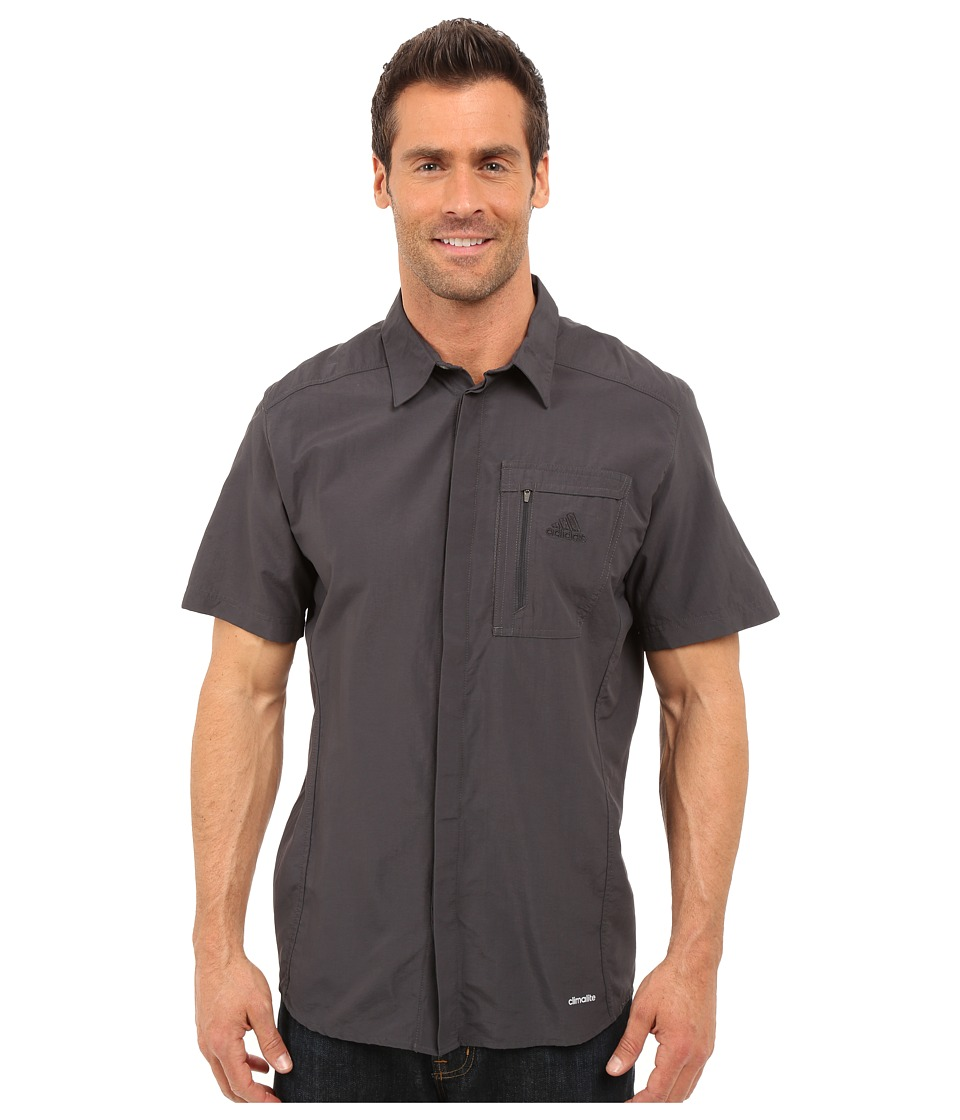 adidas Outdoor - Hiking Wick Short Sleeve Shirt (Shadow Black) Men's Short Sleeve Button Up