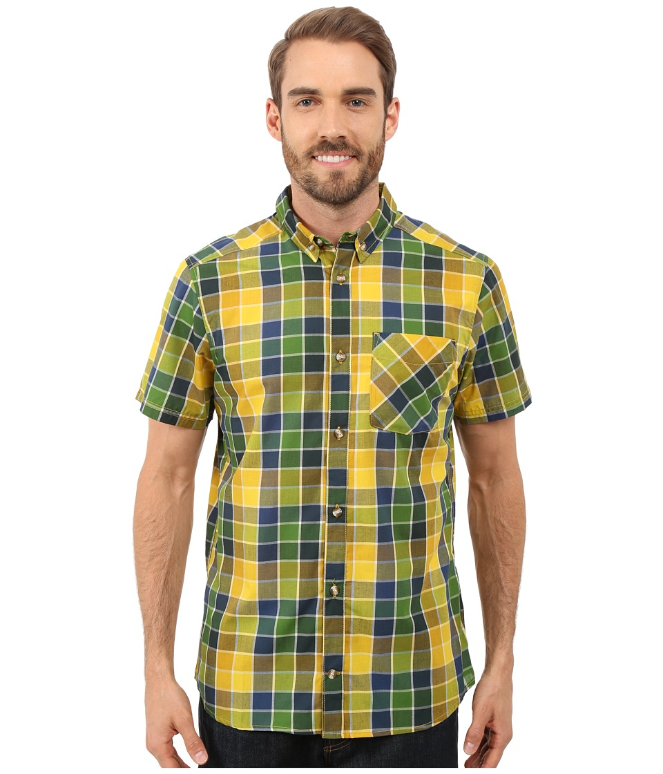 adidas Outdoor - Hiking Short Sleeve Shirt 3 (Raw Ochre) Men's Short Sleeve Button Up