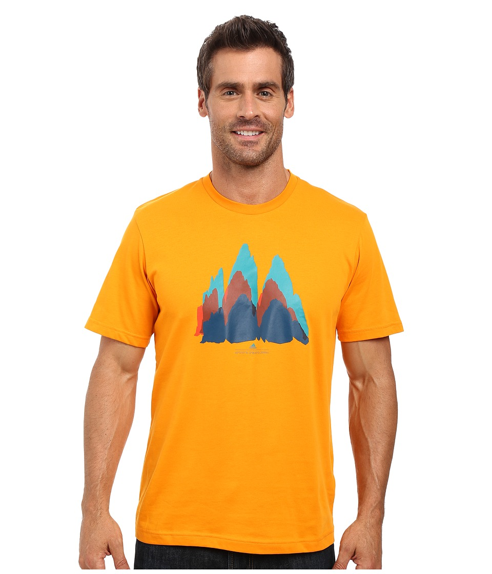 adidas Outdoor - All Outdoor Dolomiti Graphic Tee (Orange) Men's T Shirt
