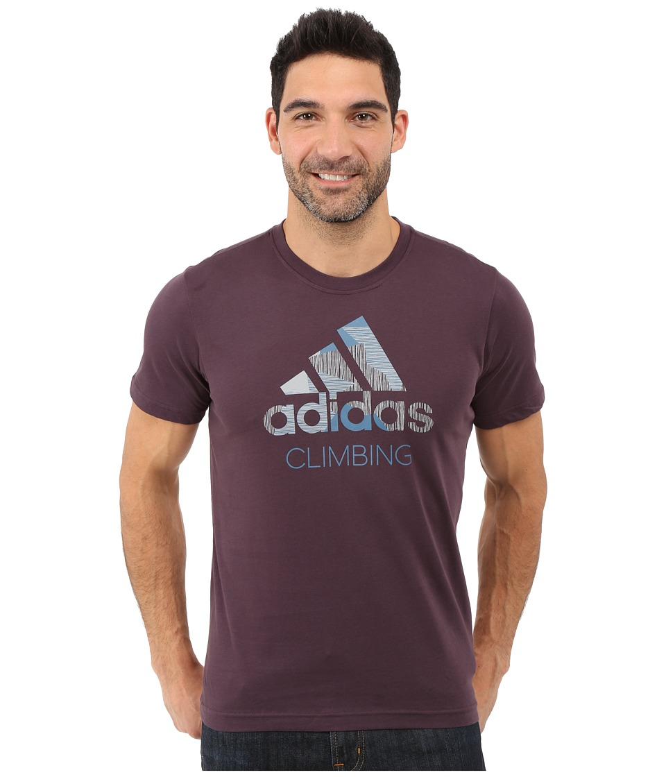 adidas Outdoor - Edo Logo Linear Tee (Mineral Red) Men's T Shirt