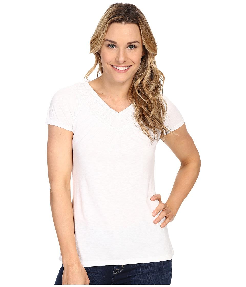 Aventura Clothing - Mina Short Sleeve (White) Women's Short Sleeve Pullover