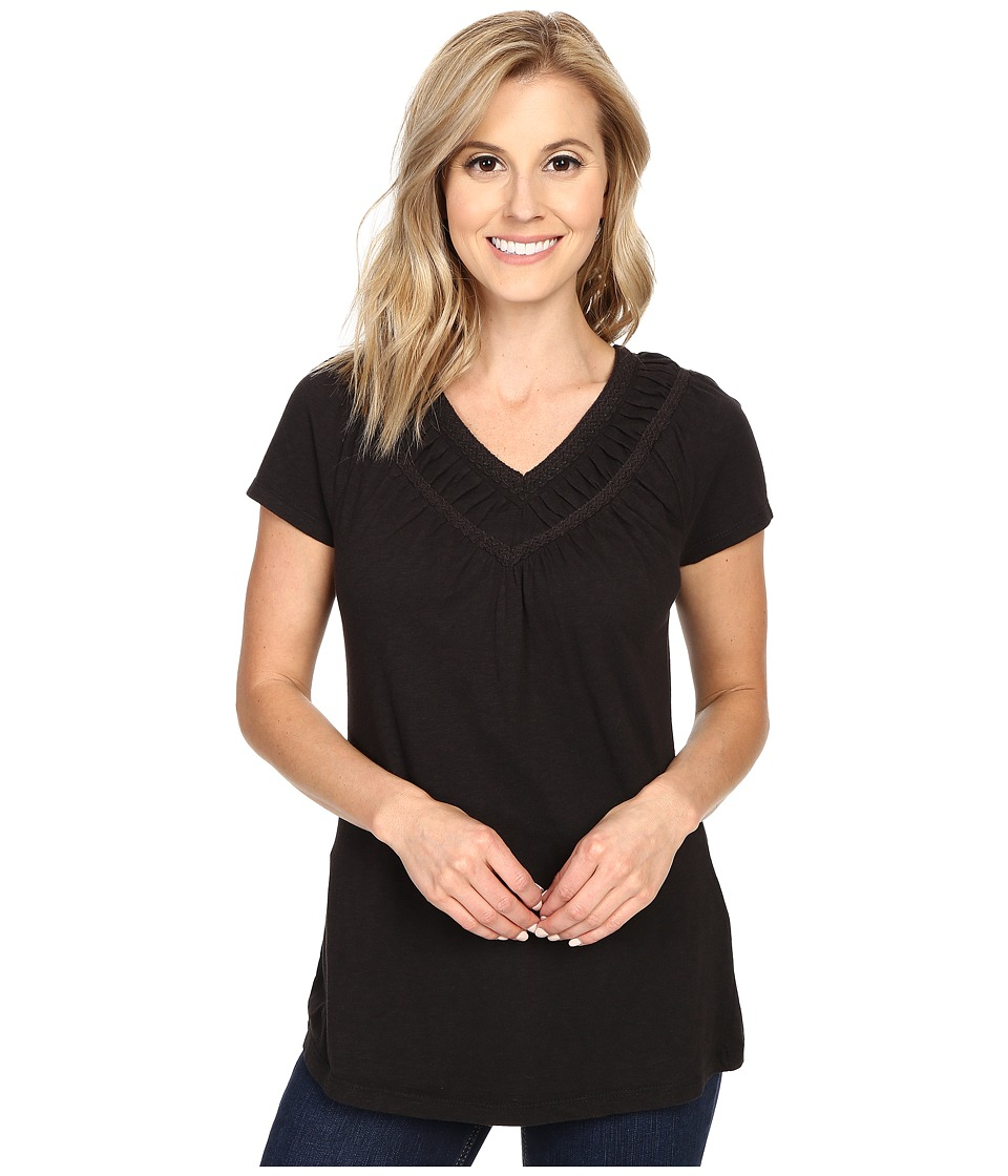 Aventura Clothing - Mina Short Sleeve (Black) Women's Short Sleeve Pullover