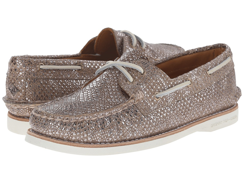 Sperry - Gold Cup A/O Metallic (Tan) Women's Lace up casual Shoes