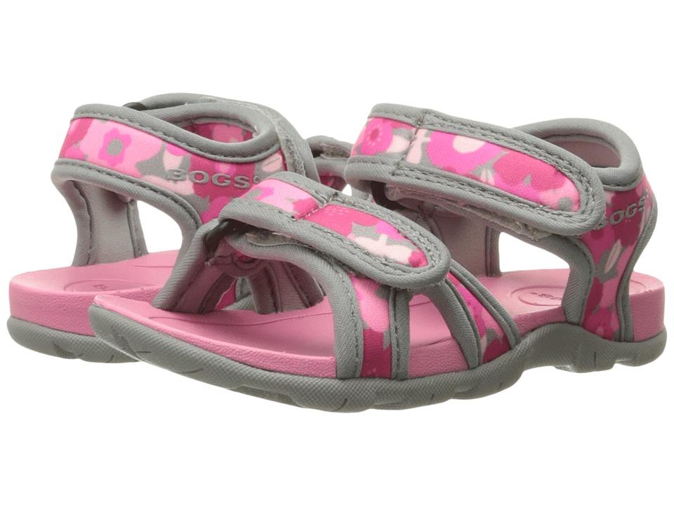 Bogs Kids - Whitefish Spring Flowers (Toddler/Little Kid) (Pink Multi) Girls Shoes